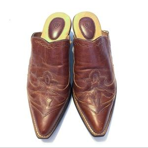 NEW Ariat Western Boot Style Mules/Clogs